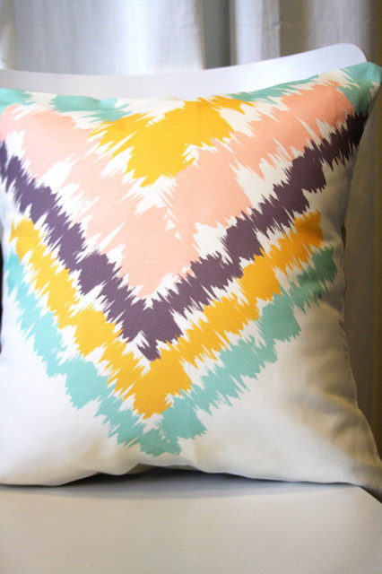 Aztec Removable Throw Pillow Cover by Leah Duncan on Etsy