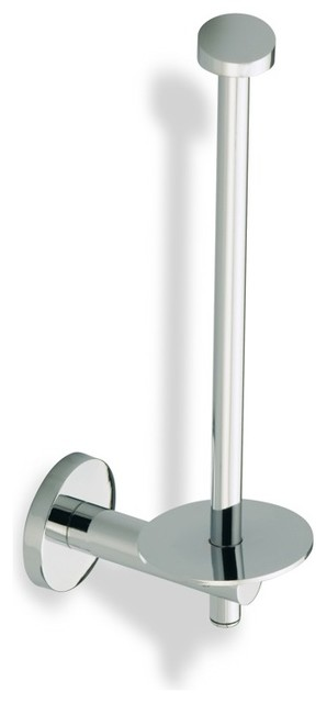 Spare Toilet Roll Holder, Satin Nickel contemporary-toilet-paper-holders
