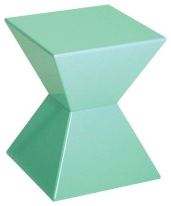 Edge Funky Mint Green High Gloss Lacquered End Table   Modern .