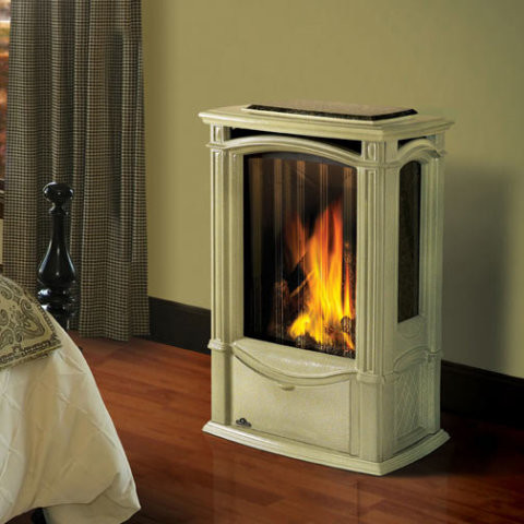 Napoleon Gds26nm Castlemore Cast Iron Stove With Standard Glass Natural Gas In S Freestanding