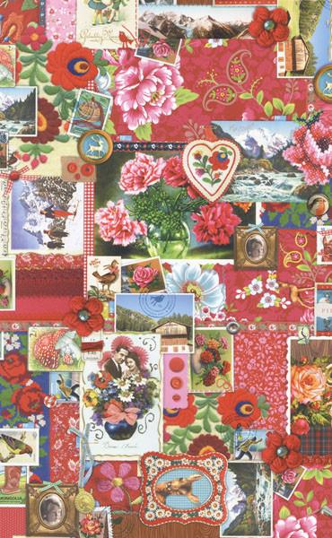 Pip Pink Winter Memories Wallpaper eclectic