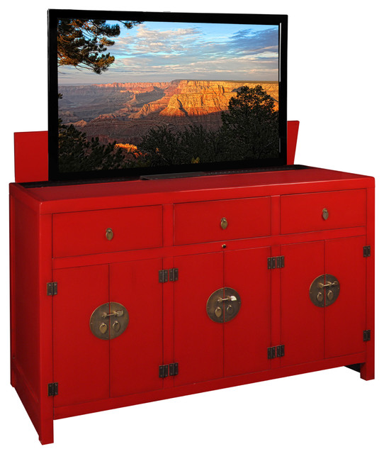 Tv Lift Cabinets For Flat Panel Tv 39 S Asian Furniture