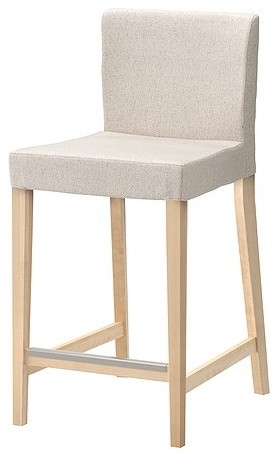 Henriksdal Bar Stool With Backrest Transitional Bar