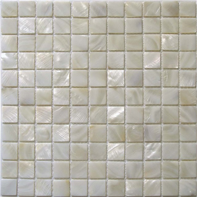 Bathroom Tiles Over Tiles : Shell tile mother of pearl tiles bathroom wall