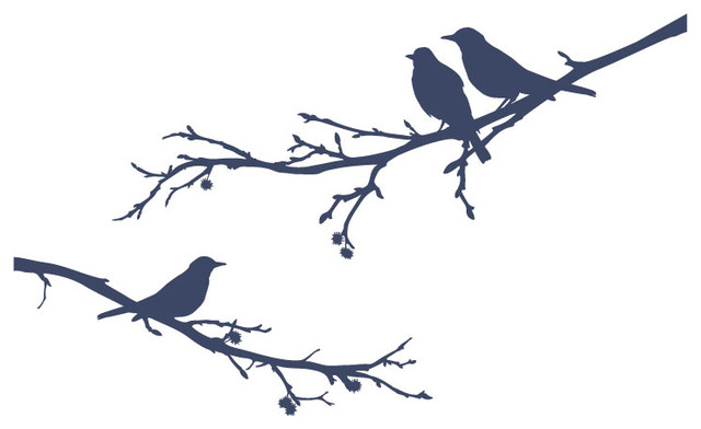 Surface Collective - Bye Bye Black Bird Wall Tattoo modern decals