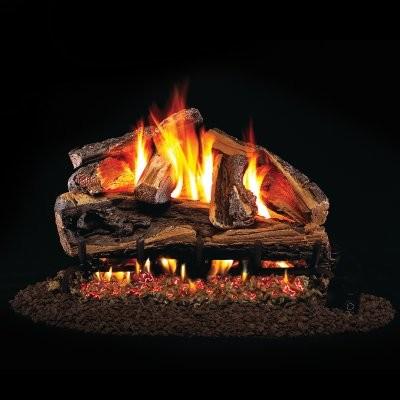 Real Fyre Rugged Split Oak Vented Gas Log Set modern-gas-ranges-and-electric-ranges
