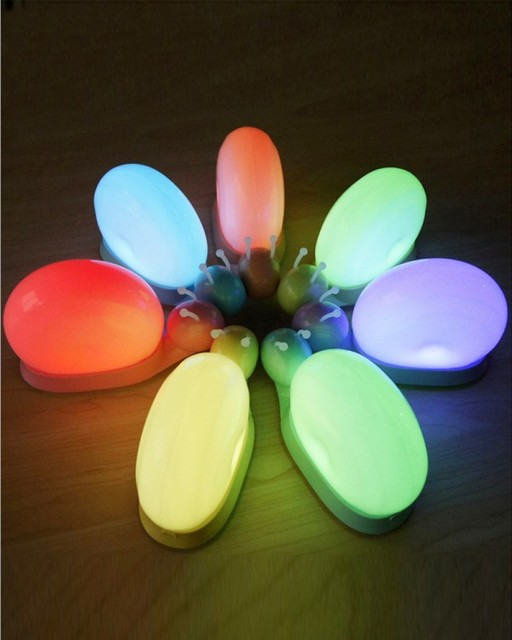 Colorful Baby Snail Touch Night Light For Kids Bedroom