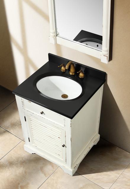 "23.75"" Antique Dreams Single Bath Vanity - Antique White traditional-bathroom-vanities-and-sink-consoles"