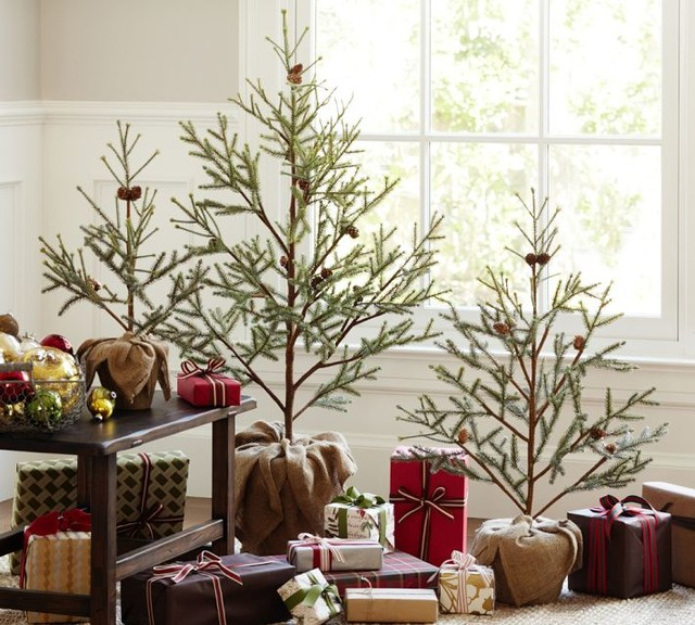 Faux Potted Pine Tree, Large - Contemporary - Christmas Trees - by Pottery Barn
