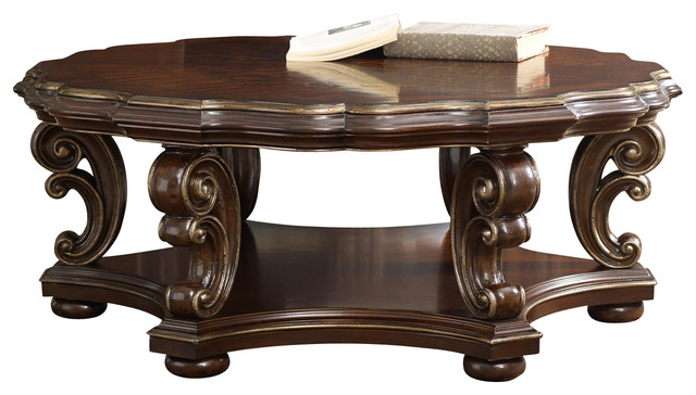 Hooker grand palais round cocktail table traditional coffee tables by bedroom furniture Traditional coffee table
