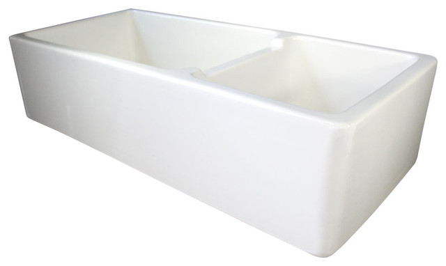 Farmhouse Kitchen Sink with Smooth Apron traditional kitchen sinks