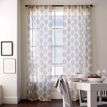 Silk Paisley Window Panel | west elm eclectic curtains