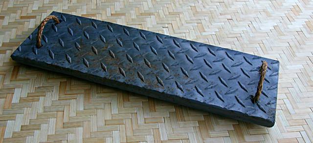 Diamond Plate Trivet/Platter. Eco Friendly Concrete. modern-serving-dishes-and-platters