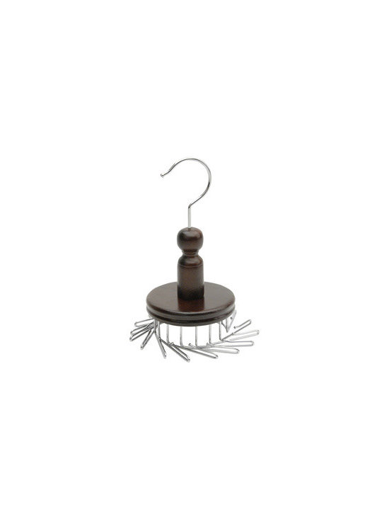 Richards Homewares - Closet Accessories 16 Hook Tie Spinner - * Features vinyl trimmed dividers for safe storage Equipped with 16 sturdy hooks