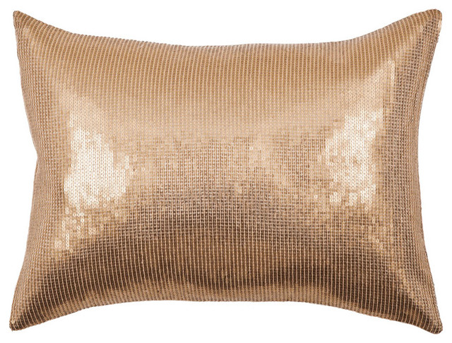 Modern Gold Pillows : Bling Sequin Pillow, Gold - Modern - Decorative Pillows - by ABC Carpet & Home