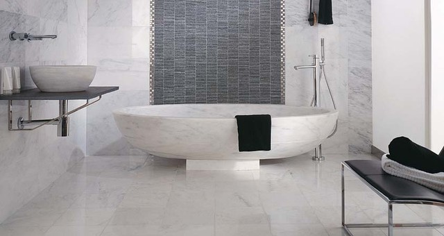 Porcelanosa Blanco Mrmara Pulido Prot., Listel Mosaico Acero A, Mosaico Aichi  bathroom tile