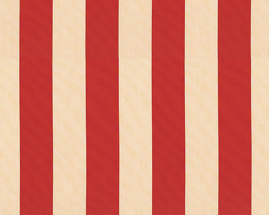 "Ballard Designs - Canopy Stripe Red/Sand Sunbrella Fabric by the Yard - Content: 100% Sunbrella ® acrylic. Repeat: Non-railroaded fabric. Care: Spot wash with mild soap solution. Width: 54"" wide. Bold red & sand canopy stripes woven in washable canvas-like, Sunbrella acrylic. Content: 100% Sunbrella acrylic .  . .  . Because fabrics are available in whole-yard increments only, please round your yardage up to the next whole number if your project calls for fractions of a yard. To order fabric for Ballard Customer's-Own-Material (COM) items, please refer to the order instructions provided for each product.Ballard offers free fabric swatches: $5.95 Shipping and Processing, ten swatch maximum. Sorry, cut fabric is non-returnable."