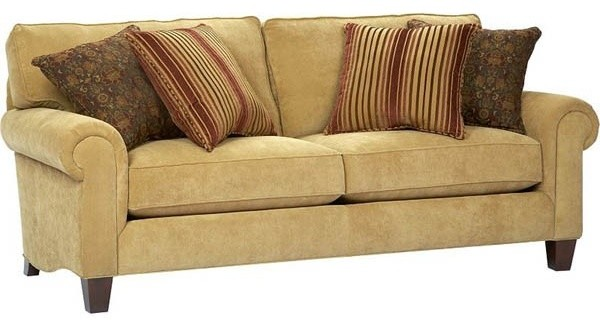 ... Fabric Upholstered Stationary Sofa - traditional-upholstery-fabric