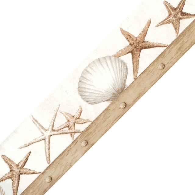 Nautical Seashells Starfish Prepasted Wall Border Roll ...