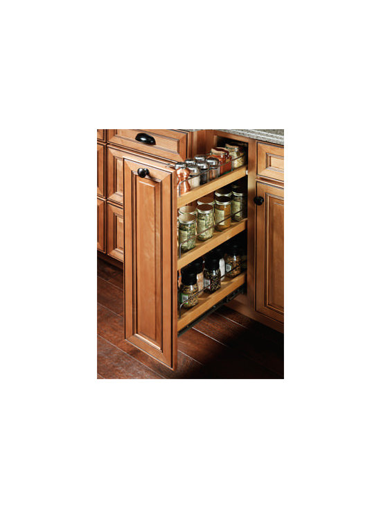 Base Pantry Roll-Out - The Base Pantry Roll-Out features three shelves on full-extension runners, for easy access to spices or other small cooking essentials.