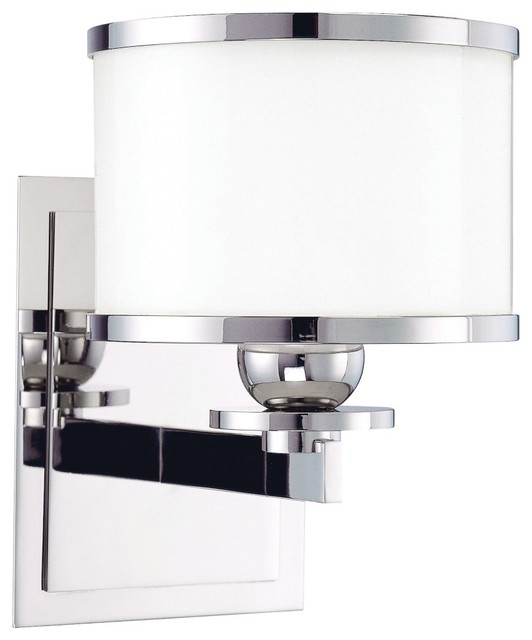 Hudson Valley Basking Ridge Polished Nickel Wall Sconce contemporary-wall-lighting