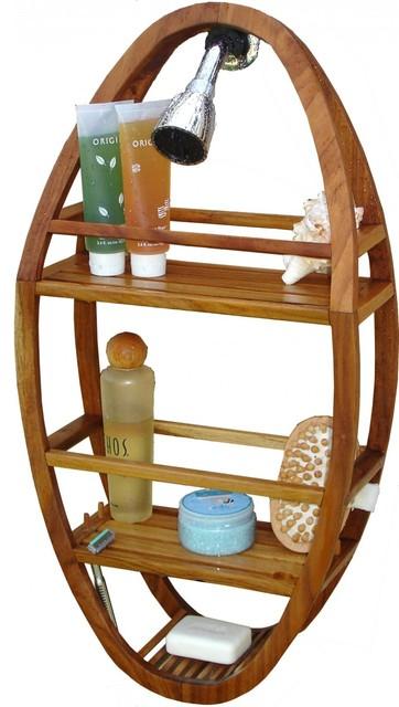 Teak Shower Organizer, Spa Collection contemporary-shower-caddies
