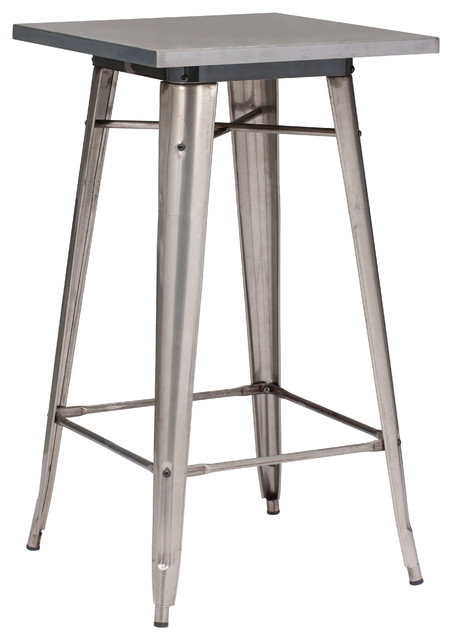 Olympia Bar Table Gunmetal industrial-indoor-pub-and-bistro-tables