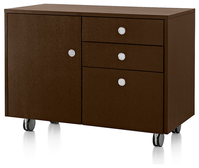 Sled Base Mobile Credenza modern-filing-cabinets-and-carts