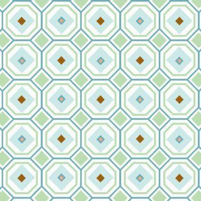 Modern Vintage Blue Octagon Fabric modern-baby-bedding