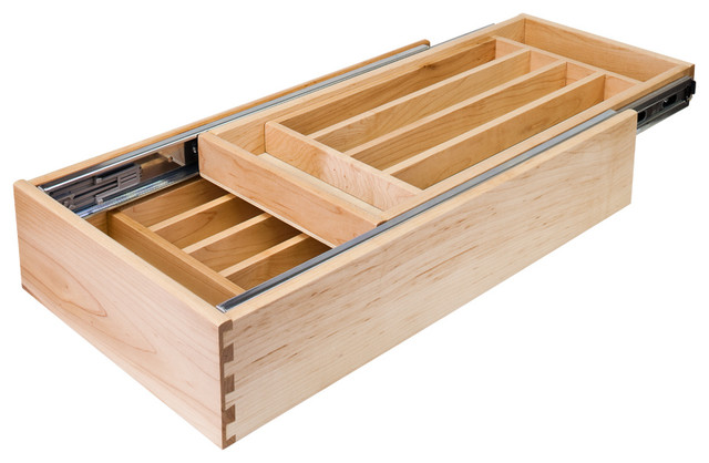 Nested Cutlery Drawer for 18 inch Base Cabinet - Traditional - Kitchen Drawer Organizers - by ...