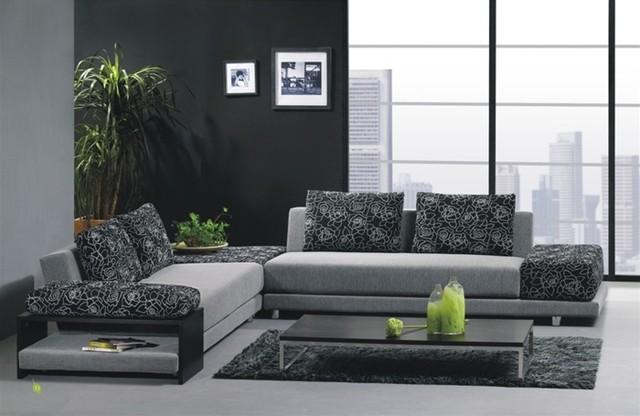 Two Toned Sofa. Home Leon Two Tone Microfiber Sectional Sofa ...