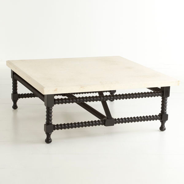 Spanish Travertine Top Coffee Table Traditional Coffee Tables Dallas By Wisteria