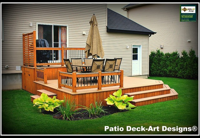Outdoor Deck Ideas : PATIO DECKART DESIGNS OUTDOOR LIVING  Contemporary  Deck  montreal