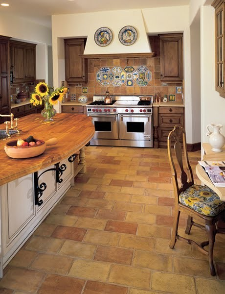Old spanish terracotta tiles it is design floor in spanish for Spanish style floor tiles