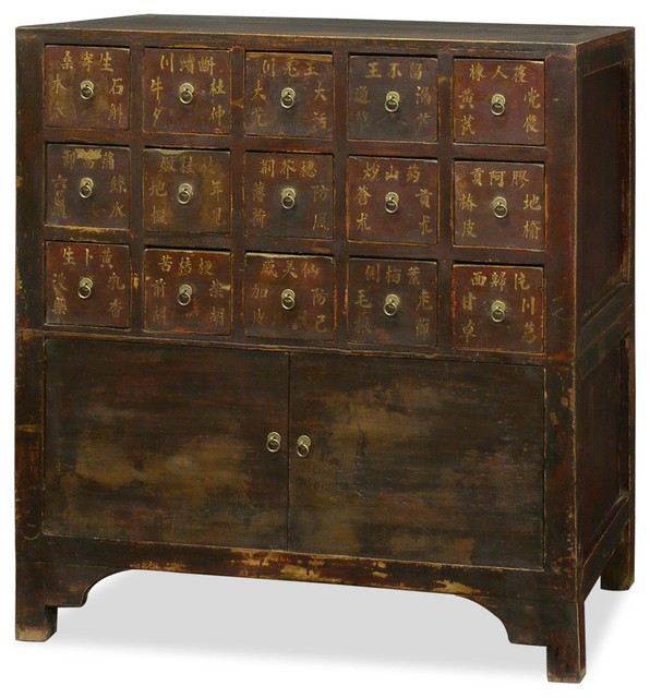 Antique Elmwood Chinese Apothecary Chest - Asian - Accent Chests And Cabinets - by China ...