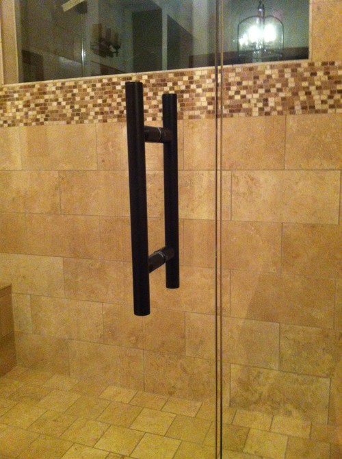 """6"""" BACK TO BACK, THROUGH-THE-GLASS, LADDER PULL SHOWER ..."""