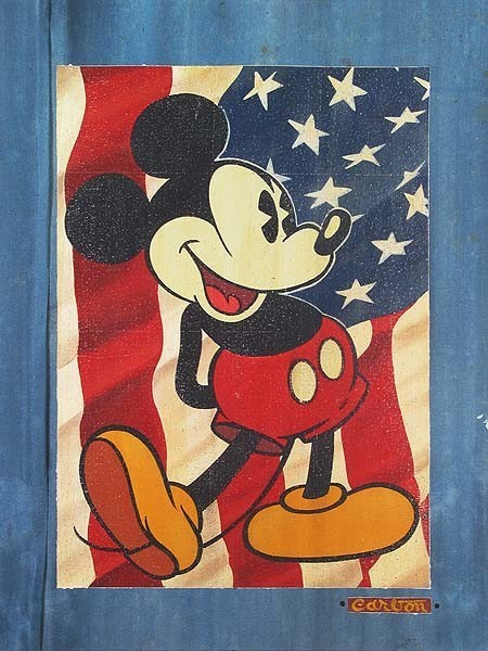 Disney Fine Art Red White And Blue Jeans by Trevor Carlton - Gallery Wrapped Gic transitional-artwork