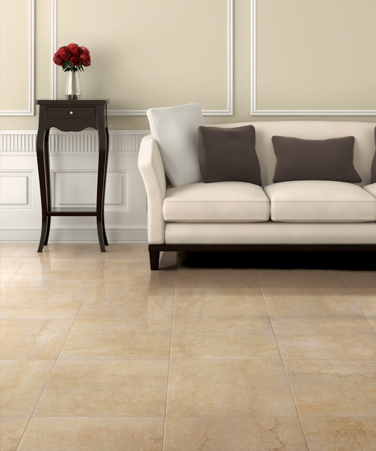 Botticino by Magica - Botticino stone look porcelain tile contemporary floor tiles