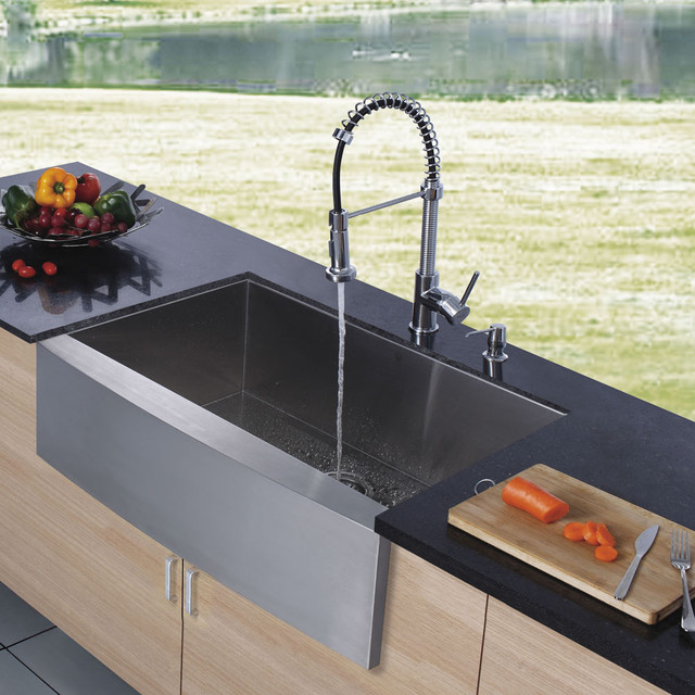 VIGO Platinum Series Farmhouse Kitchen Sink Faucet VG Modern Kitchen