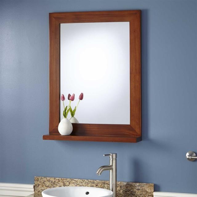 """24"""" Liani Mahogany Vanity Mirror"""
