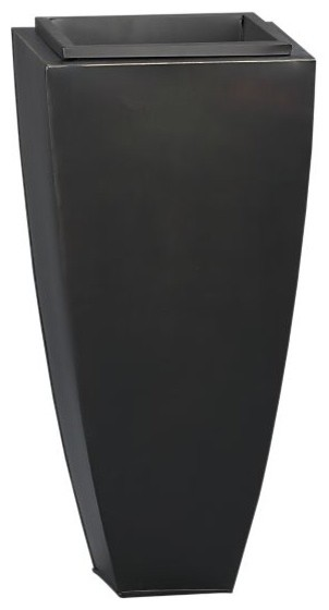 """Bronze 26.5"""" Tall Tapered Planter modern-outdoor-pots-and-planters"""
