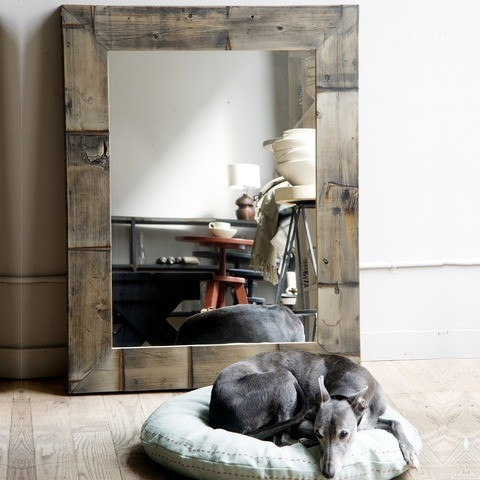 Reclaimed Wood Mirror eclectic-mirrors