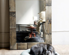 Reclaimed Wood Mirror eclectic