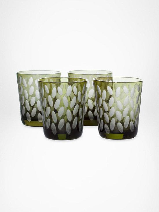 DVF Sandstone Drinkwear in Avocado (4 piece set) -