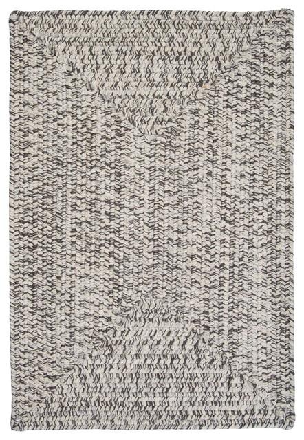 Indoor/Outdoor Corsica Silver Shimmer Rug, 5' x 8' contemporary-outdoor-rugs