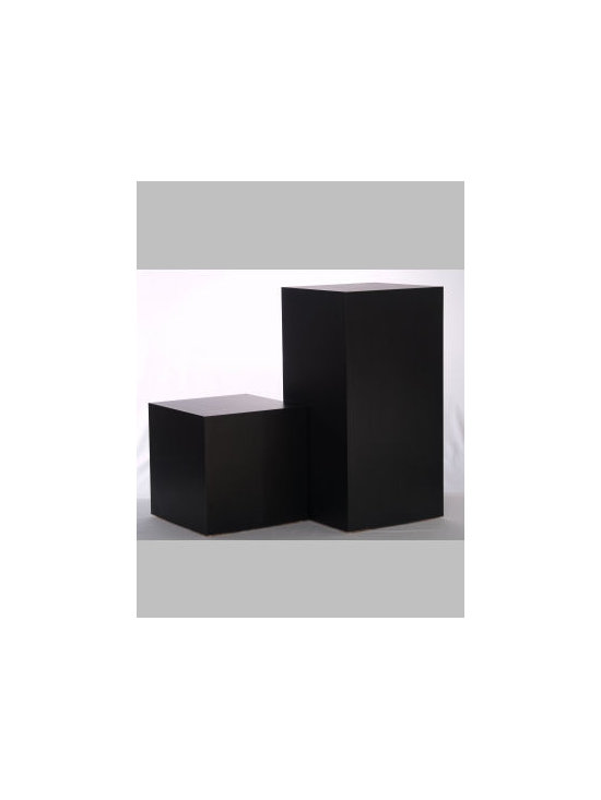 "Black Laminate Rectangular Pedestals - We put 600 lb on a 18x18x30"" display pedestal and it showed no signs of stress! This matte black laminate pedestal is a real value."