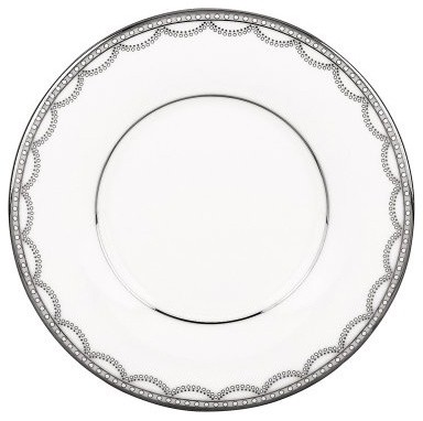 Lenox Iced Pirouette Can Saucer - Set of 2 modern-plates