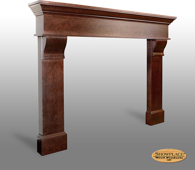 Classic Corbel Fireplace Surround - Showplace Cabinets - Traditional - Kitchen Cabinets - other ...