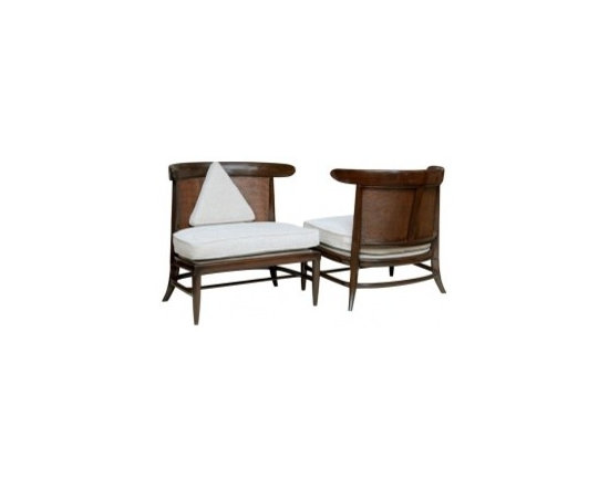 Eco Friendly Furnture and Lighting - Classy 50's Sophisticates Collection Slipper Chairs by Tomlinson.