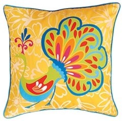 Outdoor Peacock Pillow - Contemporary - Outdoor Cushions And Pillows - by Pier 1 Imports